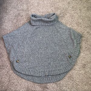 MICHAEL Michael Kors Turtle Neck Poncho Sweater